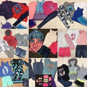 75pc Lot of 10/12 mixed brands clothing